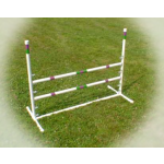 dog agility single jump with aluminum cups