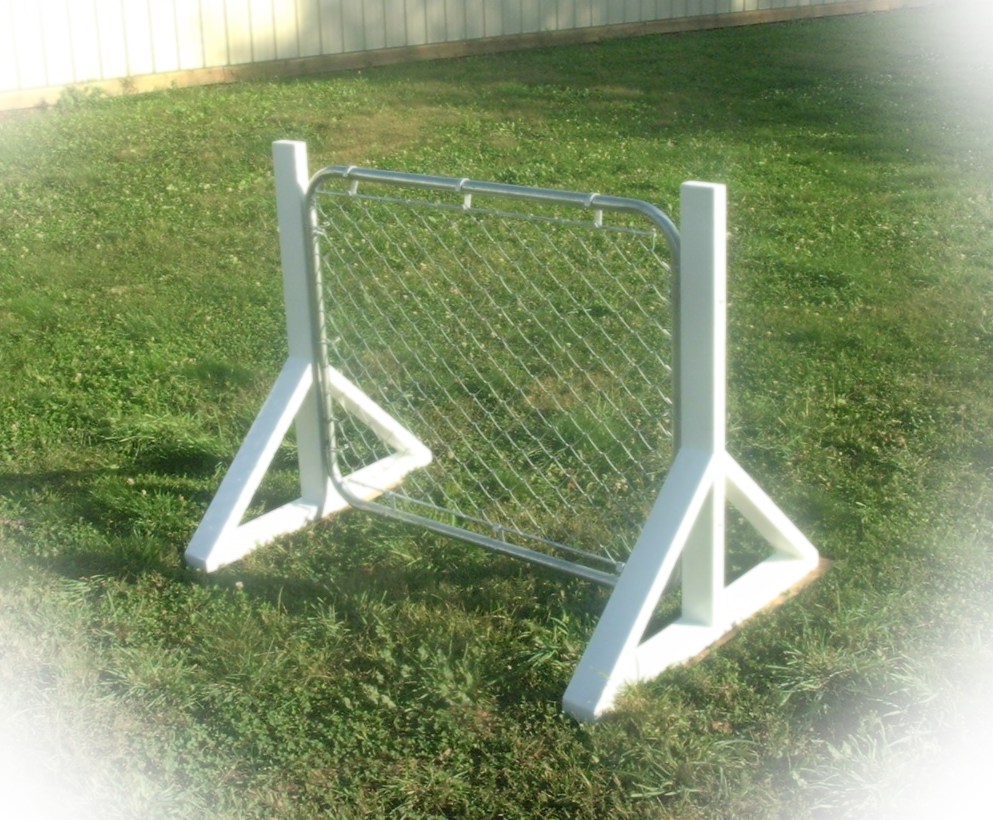 K9 training chain link hurdle