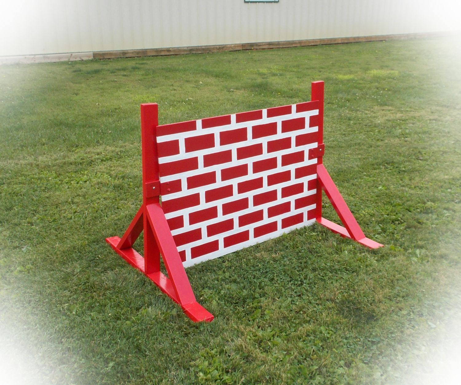 K9 training brick wall jump