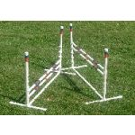 set of 2 dog agility jumps