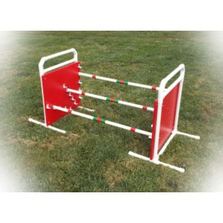 dog agility triple jump panels