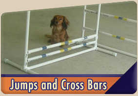 Dog agility jumps and bars