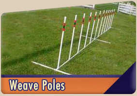Straight weave poles for dog agility